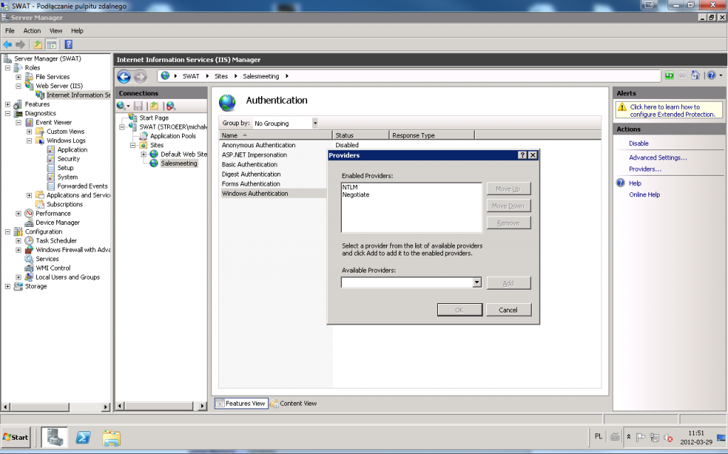 iis 7.5 windows authentication